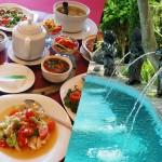 ウブドと絶景ランチと温泉+中華12品贅沢ツアー